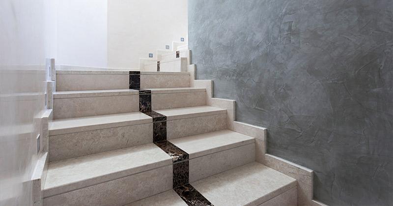 natuursteen trap binnen